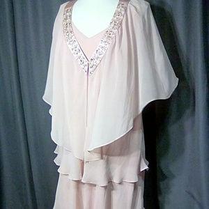 SLNY size 14W occasion jacket & sleeveless dress